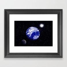 The blue Planet. Framed Art Print