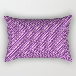 Lilac Purple Violet Inclined Stripes Rectangular Pillow