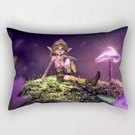 Awesome Tiny Lilac Fairytale Forest Spirit Relaxing UHD Rectangular Pillow