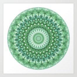 Emerald Green Mandala Art Print