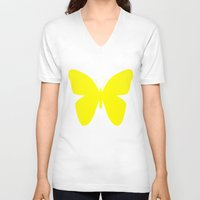 butterfly V-neck T-shirts featuring Butterfly by Naked N Pieces