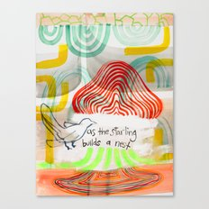 As The Starling Builds A Nest (No.11) Canvas Print