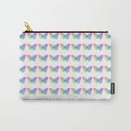 Pastel rainbow butterfly Carry-All Pouch