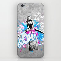 girl power iPhone & iPod Skins featuring Girl Power by victor calahan