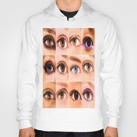 duvet cover Hoodies featuring VARIETY OF THE EYES DUVET COVER by aztosaha