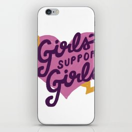 Girls Support Girls iPhone Skin