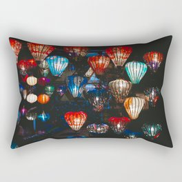 Lanterns in the Night Market, Hoi An, Vietnam Rectangular Pillow