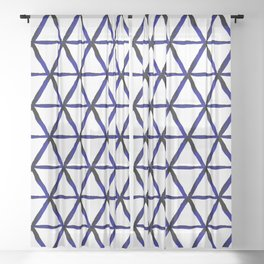 Shibori hexagon Sheer Curtain