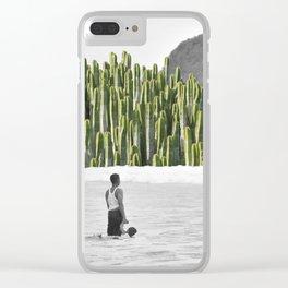 Succulent Resistance Clear iPhone Case