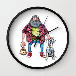 Gamekeeper and Keeper of Keys Wall Clock