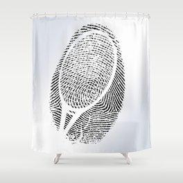 Fingerprint of a player Shower Curtain