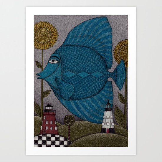 It's a Fish! Art Print