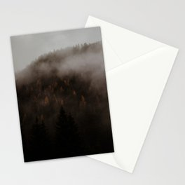 Misty Autumn Larches Stationery Cards