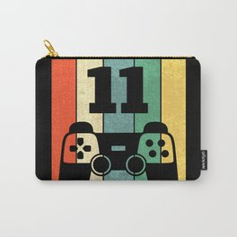 Level 11 Years Boy Man 11th Birthday Carry-All Pouch