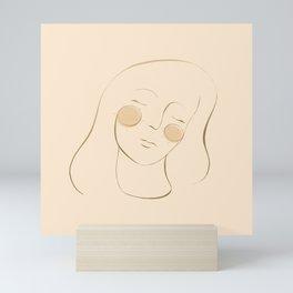 sun cheeks Mini Art Print