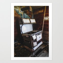 Windsor Porcelain Stove in a Ghost Town 2 Art Print