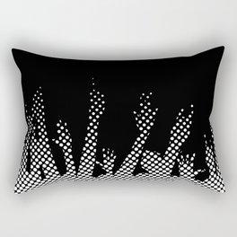 Halftone Raised Hands Rectangular Pillow