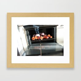 Lingerie in the oven. Framed Art Print