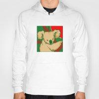 koala Hoodies featuring Koala by whiterabbitart