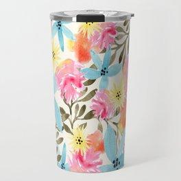 Paradise Floral Print Travel Mug