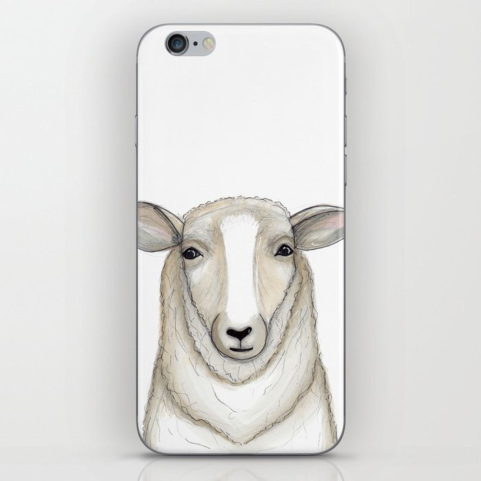 Sheep Drawing Lamb Art Farmhouse Decor Iphone Skin By Galladoodle