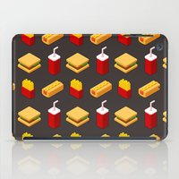 junk food iPad Cases featuring Isometric junk food pattern by Irmirx