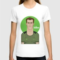 murray T-shirts featuring Andy Murray Tennis Illustration by Gary  Ralphs Illustrations
