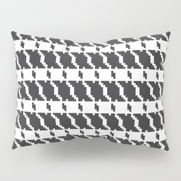 Black and white geometric abstract background, cloth pattern, goose foot. Pied de poule. Ve Pillow Sham