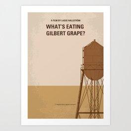 No795 My Whats Eating Gilbert Grape minimal movie poster Art Print