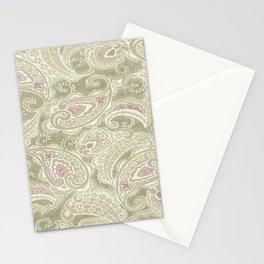 batik paisley warm Stationery Cards