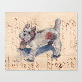 Chenille Dog Canvas Print