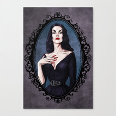 Halloween Heroines Series: Vampira Canvas Print