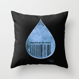 Water : Property of the People 2 Throw Pillow