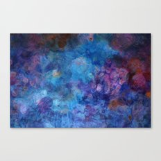 Blue Grotto Abstract Painting  Canvas Print
