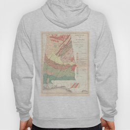 Vintage Agricultural Map of Alabama (1882) Hoody