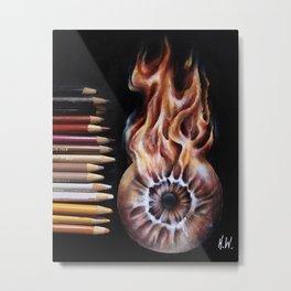 """Fire Eye"" Drawing Metal Print"