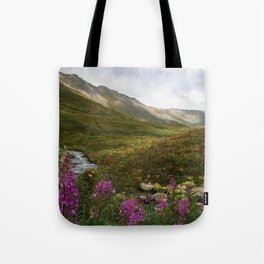 Fireweed & Fall in Alaska  Tote Bag