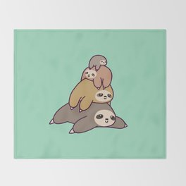 Sloth Stack Throw Blanket