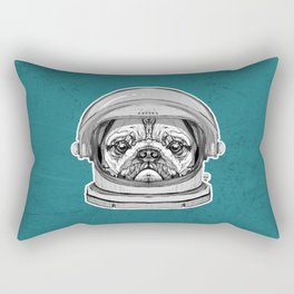 Astronaut Pug Rectangular Pillow