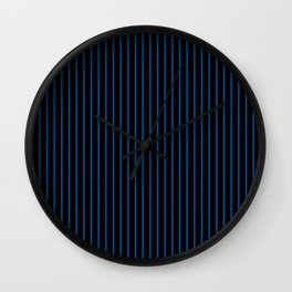 Lapis Blue and Black Stripes Wall Clock