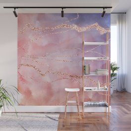 Blush and Purple Sky with Rose gold flashes Wall Mural