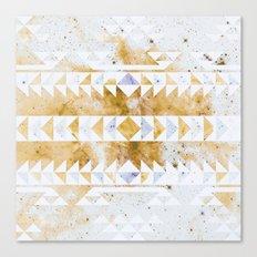 Burnt Gold Tribal Canvas Print