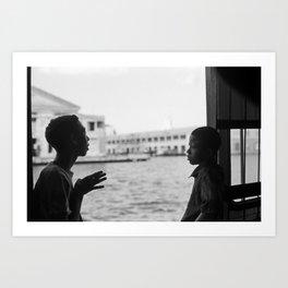 Casablanca Ferry, Cuba, 2008 Art Print