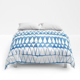 Indigo Triangle Pattern Comforters