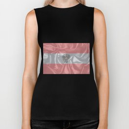 Silk Austrian Flag and Coat of Arms Biker Tank