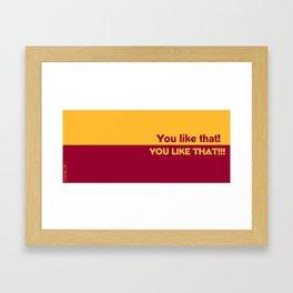 Kirk Cousins YOU LIKE THAT Framed Art Print