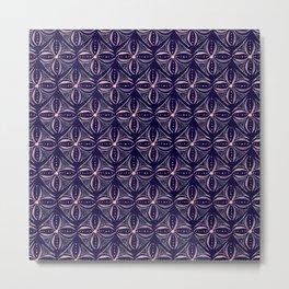 Dark Watercolor Tile Metal Print