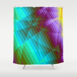 Color Fractions Shower Curtain