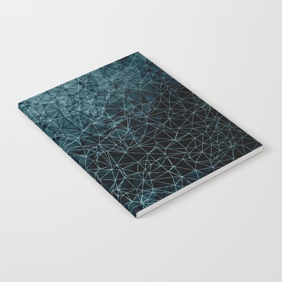 Polygonal blue and black Notebook