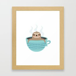 Sloth In A Cup Framed Art Print